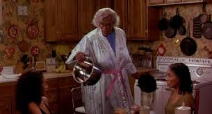 Madea hot grits and a skillet